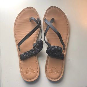 Leather Hollister sandals women's US 9